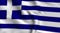 Greece Weave Textured Flag Loop Stock Footage
