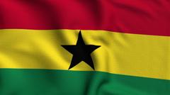 Ghana Weave Textured Flag Loop - stock footage