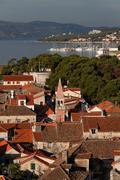trogir skyline, unesco, dalmatia, croatia, europe - stock photo
