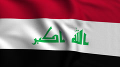 Iraq Weave Textured Flag Loop - stock footage