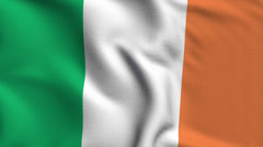 Stock Video Footage of Ireland Weave Textured Flag Loop