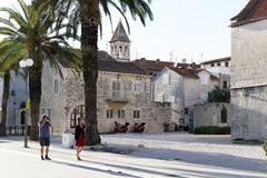 Stone houses, trogir, dalmatia, croatia, europe Stock Photos