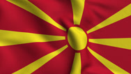 Stock Video Footage of Macedonia Weave Textured Flag Loop
