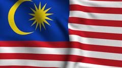 Malaysia Weave Textured Flag Loop Stock Footage