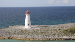 Lighthouse nassau2 Stock Footage