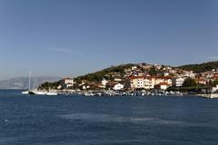 trogir harbour, dalmatia, croatia, europe - stock photo