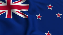 New Zealand Weave Textured Flag Loop Stock Footage
