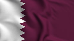 Qatar Weave Textured Flag Loop - stock footage