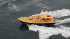 Pilot Boat - Yellow Stock Footage