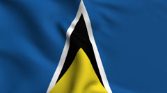 Stock Video Footage of Saint Lucia Weave Textured Flag Loop