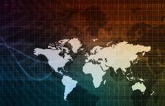 Technology network Stock Illustration