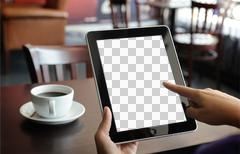 Ipad + Touch: Easy to Add Image! - stock photo