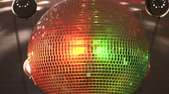 Disco ball zoom out Stock Footage