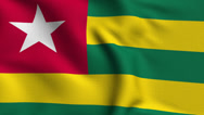 Stock Video Footage of Togo Weave Textured Flag Loop