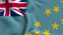 Tuvalu Weave Textured Flag Loop Stock Footage