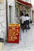 Small place with fast food, makarska, croatia Stock Photos