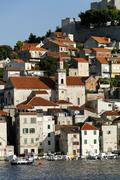 sibenik town, dalmatia, croatia, europe - stock photo