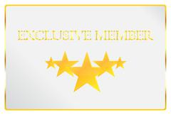 Exclusive Member Card Stock Illustration