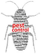 Pest Control Word Cloud Stock Illustration