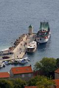 bol harbour at brac island, dalmatia, croatia - stock photo