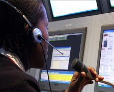 Security control centre woman PAL Stock Footage