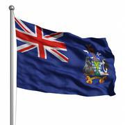Flag of south sandwich islands Stock Illustration