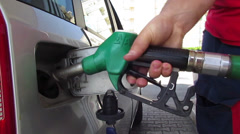 Fuel filling up Stock Footage