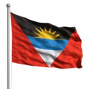 Flag of antigua and barbuda Stock Illustration