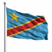 Stock Illustration of flag of the dr congo