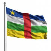 Flag of the central african republic Stock Illustration