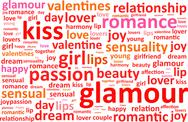 Stock Illustration of Glamour Word Cloud
