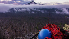 Climbing Ropes Timelapse Dolly - stock footage