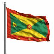 flag of grenada - stock illustration