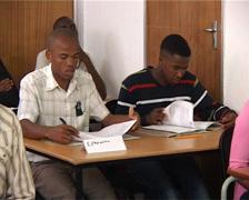 Black Students classroom Training PAL - stock footage