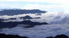 Hehuanshan National Forest park . taiwan - stock footage