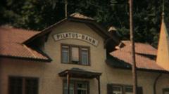 Pilatus Bahn Luzern Sveitsi vanha hotelli vintage elokuva 9795 Arkistovideo