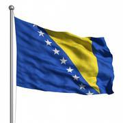 Stock Illustration of flag of bosnia and herzegovina
