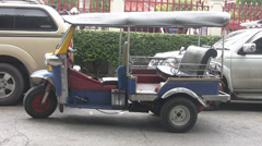 Tuktuk p253 Stock Footage