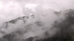 Fog and cloud with the mountain Stock Footage