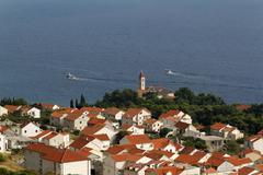 Stock Photo of bol town at brac island, dalmatia, croatia, europe