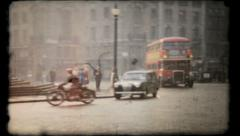 394 - London streets in post war England - vintage film home movie Stock Footage