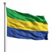 Stock Illustration of flag of gabon