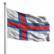 flag of the faroe islands - stock illustration
