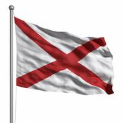 Flag of alabama Stock Illustration