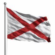 flag of alabama - stock illustration