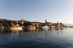 trogir at sunrise, unesco, dalmatia, croatia, europe - stock photo
