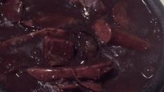 Close-up of traditional brazilian food - Feijoada Stock Footage