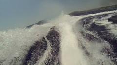 Jetski rear view Stock Footage