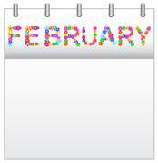 Calendar February Stock Illustration
