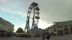 Riesenrad in Vienna Stock Footage